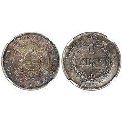 Uruguay (struck at the Paris mint), 1 peso, 1877-A, NGC MS 62.