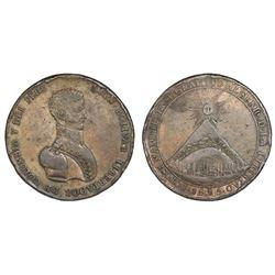 Potosi, Bolivia, bronze medal, 1825, Bolivar.