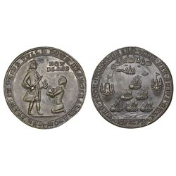 Great Britain, small-size copper-alloy Admiral Vernon medal, 1739, Porto Bello, Vernon and Don Blass