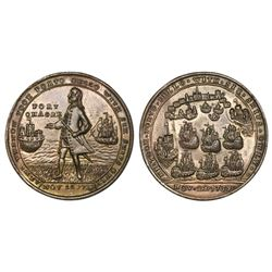 Great Britain, copper-alloy Admiral Vernon medal, 1739, Porto Bello / Fort Chagre, ex-Adams.