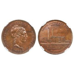 Great Britain (struck by Ralph Heaton & Sons in Birmingham), bronze medal, dated 1874, Enrique Corte