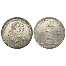 Mexico City, Mexico, 4 reales-sized silver proclamation medal, Charles IV, 1796, Marquis de Brancifo
