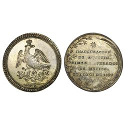 Mexico City, Mexico, 4 reales-sized silver proclamation medal, 1822, Iturbide.