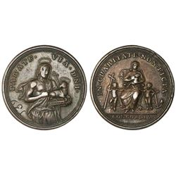 Papal States, bronze beggar's medal, no date (ca. 1700s), John the Baptist, numbered 139, PCGS VF35