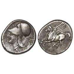 Corinth, Corinthia, AR stater, ca. 250 BC, pegasus.