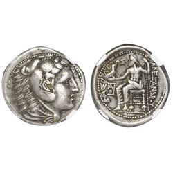 Kingdom of Macedon, AR tetradrachm, Alexander III (the Great), ca. 336-323 BC, early posthumous issu