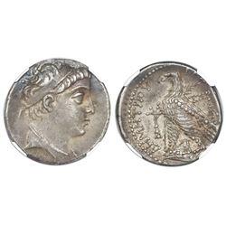 Seleucid Kingdom, AR tetradrachm, Demetrius II, first reign, 146-138 BC, NGC Ch VF, strike 4/5, surf