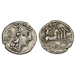 Roman Republic, AR denarius, P. Maenius Antiaticus M.f., 132 BC, Rome mint.
