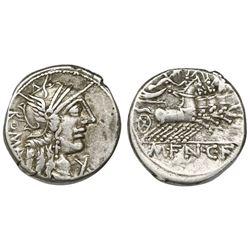 Roman Republic, AR denarius, M. Fannius C.f., 123 BC, Rome mint.