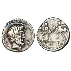 Roman Republic, AR denarius, L. Titurius L.f. Sabinus, 89 BC, Rome mint.