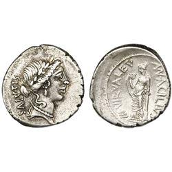 Roman Republic, AR denarius, Man. Acilius Glabrio, 49 BC, Rome mint.