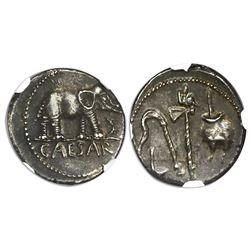 Roman Empire, AR denarius, Julius Caesar (d. 44 BC), ca. 49-48 BC, military mint traveling with Caes