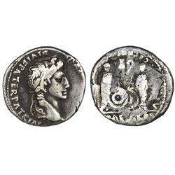 Roman Empire, AR denarius, Augustus, 27 BC-AD 14, Lugdunum (Lyon) mint.