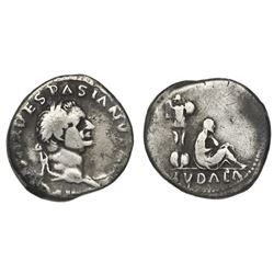 Roman Empire, AR denarius, Vespasian, 69-70 AD, Rome mint.