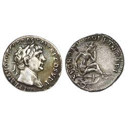 Roman Empire, AR denarius, Trajan, 103-111 AD, Rome mint.
