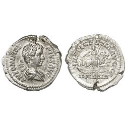 Roman Republic, AR denarius, Caracalla, 196-198 AD, Rome mint.