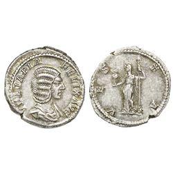 Roman Republic, AR denarius, Julia Domna, wife of Septimius Severus, 193-217 AD, Rome mint, struck u