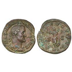 Roman Empire, AE sestertius, Maximinus I 'Thrax', late 236/7 AD, Rome mint.
