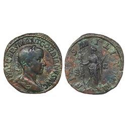 Roman Empire, AE sestertius, Gordian III, 238-244 AD, Rome mint, 1st officina, 1st emission, 238 AD.