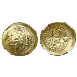 Byzantine Empire, AV/EL histamenon nomisma, Michael VII, 1071-78 AD, NGC (no grade).