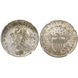 USA (Philadelphia mint), 50 cents draped bust, 1807, NGC VF details / graffiti.