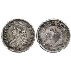 USA (Philadelphia mint), 50 cents capped bust, 1812, NGC AU 53.