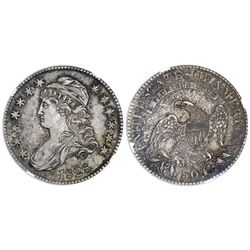 USA (Philadelphia mint), 50 cents, 1828, square base 2, large 8s, large letters, NGC AU 53.