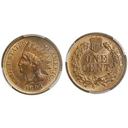 USA (Philadelphia mint), Indian Head cent, 1894, PCGS MS65 RB.