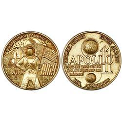 USA (struck by L.G. Balfour & Co), 18 karat gold medal, 1969, Apollo 11, 27.94 grams, NGC MS 66.