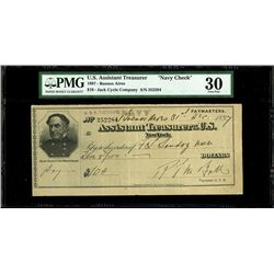 New York, USA (issued in Buenos Aires, Argentina), USS Cincinnati, $10, Dec. 31, 1897, serial 252284