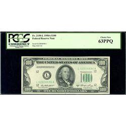 USA (Washington, D.C.), Federal Reserve Note, $100, series 1950A, serial L02806696A, PCGS Choice New