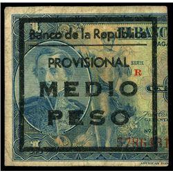 Bogota, Colombia, Banco de la Republica, 1/2 peso, no date (1942) Group 1 overprint on Banco de la R