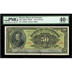 Iguala, Mexico, Banco de Guerrero, 50 pesos, 15-1-1914, series A, serial 09199, PMG XF 40 EPQ, fines