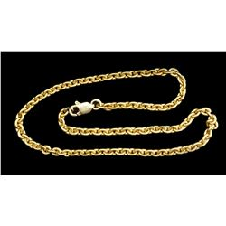 Gold chain, 9 inches, 7.8 grams, ex-Atocha (1622), with modern clasp for bracelet.