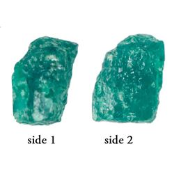 High-quality natural emerald, 1.44 carats, grade 1C, ex-Atocha (1622).
