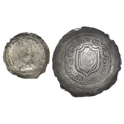 Small silver breastplate with ornate design, ex-Atocha (1622).