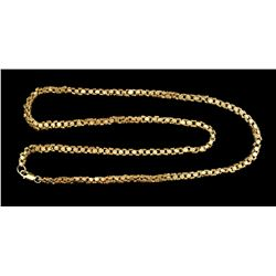 "Gold ""olive blossom"" chain, 18.7 grams, 16-1/4"" long, ex-1715 Fleet, with 18K clasp attached to make"