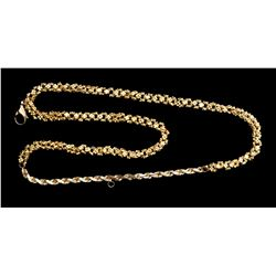 "Gold ""olive blossom"" chain, 19.5 grams, 10-1/4"" long, ex-1715 Fleet, with 18K clasp and connector at"
