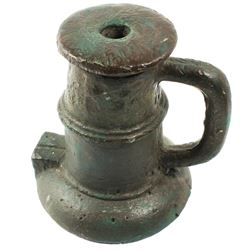 "1700s Spanish colonial bronze ""thunder mug"" mortar."