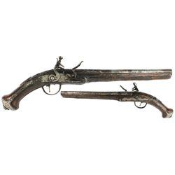 1700s European flintlock pistol stamped with  London.