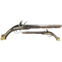 1700s European flintlock pistol.