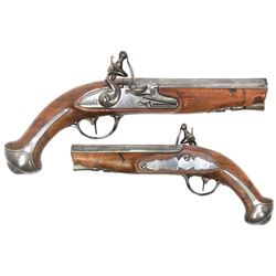 Small flintlock pistol, early 1800s.