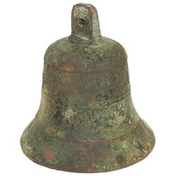 Bronze handbell, Spanish colonial, late 1500s.