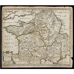 French copperplate-engraved map of France by Philip Culver (ca. 1690).