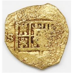 Seville, Spain, cob 2 escudos, Philip III, assayer G.