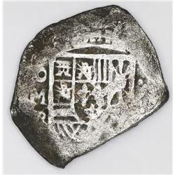 Mexico City, Mexico, cob 4 reales, Philip V, assayer R (1729-30).