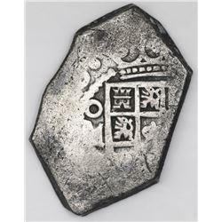 Mexico City, Mexico, cob 4 reales, (173)0, assayer not visible.