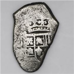 Mexico City, Mexico, cob 4 reales, Philip V, assayer not visible (ca. 1730).