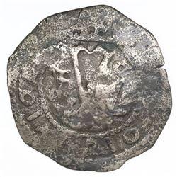Santo Domingo, Dominican Republic, copper 4 maravedis, Charles-Joanna, assayer F, with key (revaluat