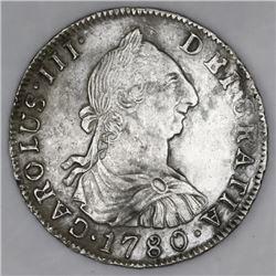 Potosi, Bolivia, bust 4 reales, Charles III, 1780PR.